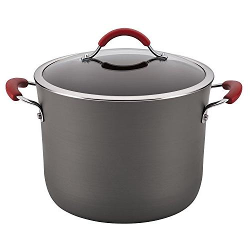 Rachael Ray Cucina Hard-Anodized Nonstick Covered Stockpot,