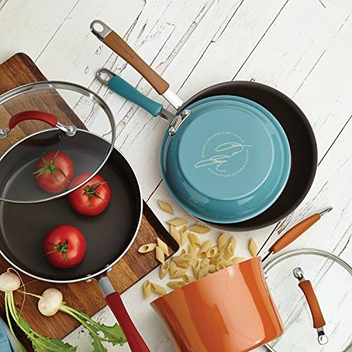 Rachael Cucina Hard Porcelain Nonstick Set, and Agave