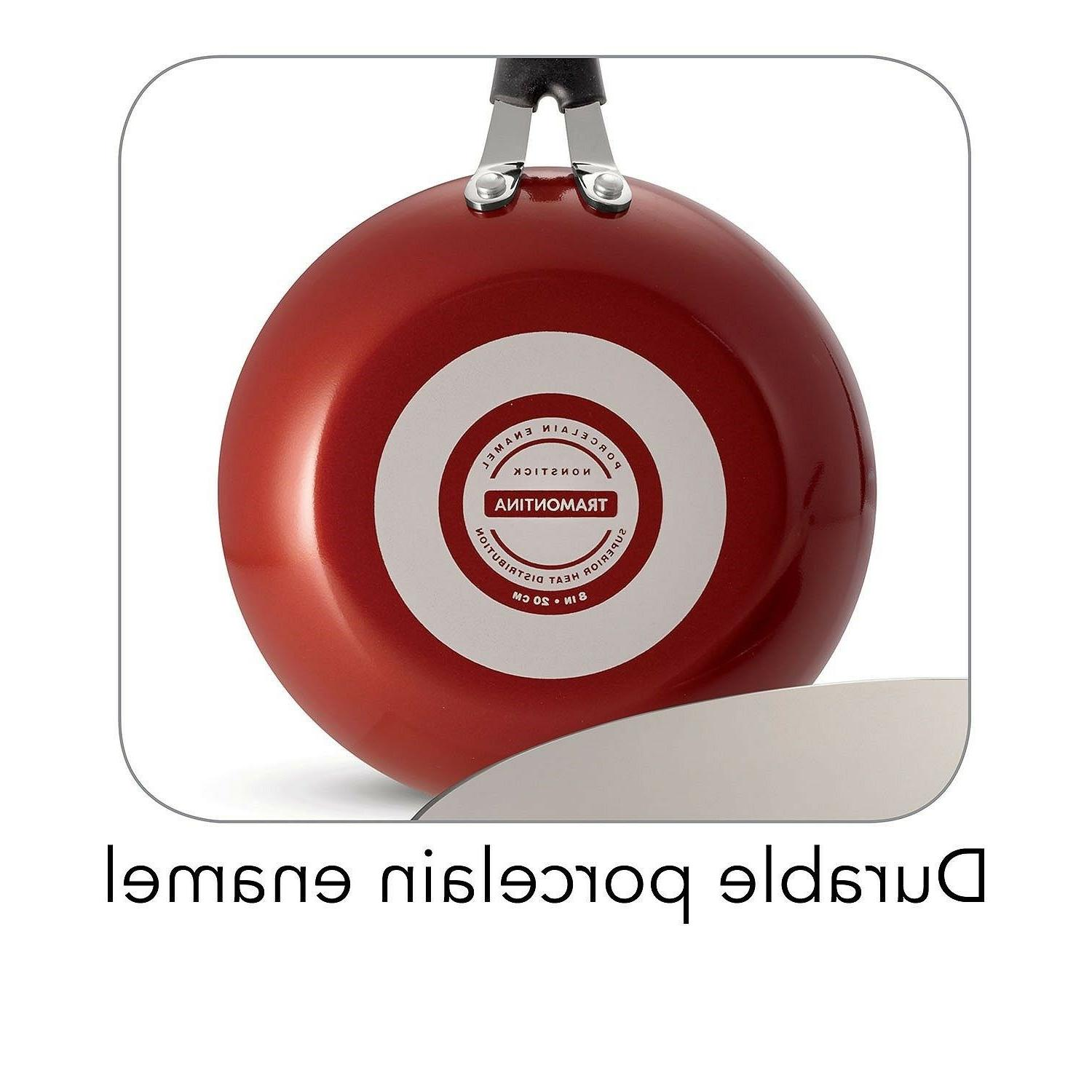 Red Ceramic-Reinforced Kitchen Cookware