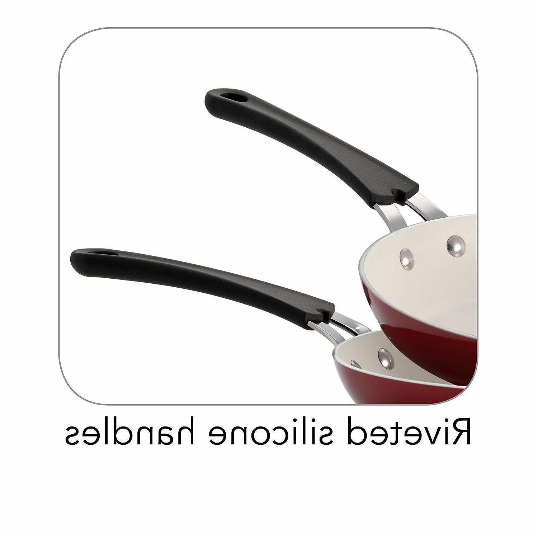 Tramontina CERAMIC Oven FRY PANS Set 3 -Choose Color