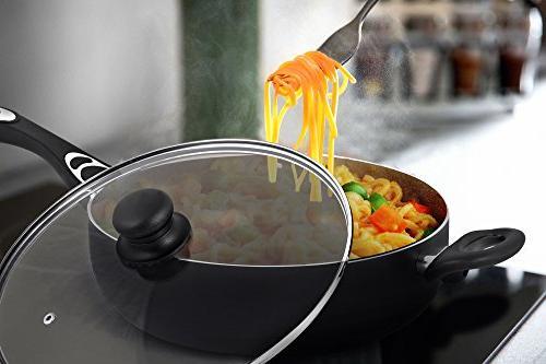 Utopia Kitchen 11 Cooker - Sauté Deep Frying Pan Glass Quart