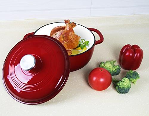 Utopia Iron Oven – Red Color 3.2-Quart