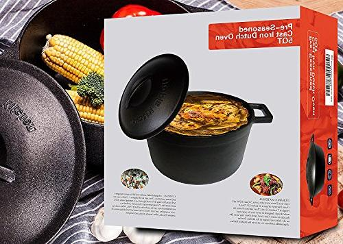 Utopia Kitchen Cast Oven with and Cover Casserole Quart