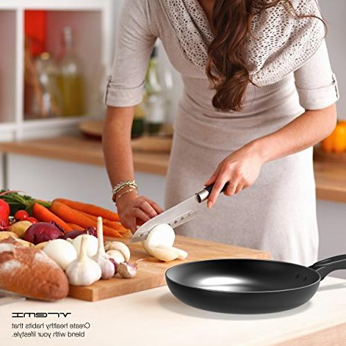 Vremi Piece Cookware Set; 2 and with Lids, Nonstick