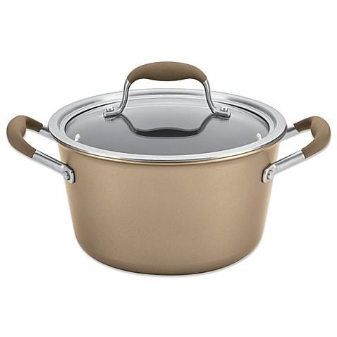 advanced umber tapered covered saucepot