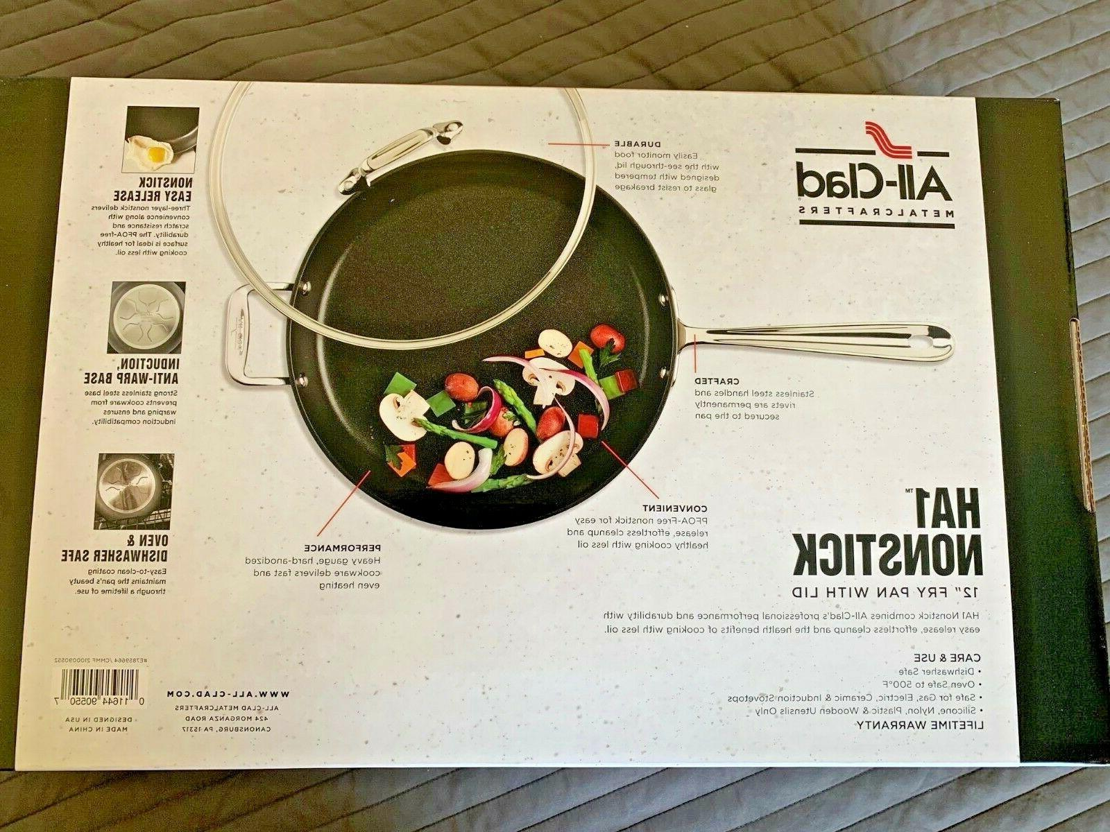 """All-Clad Anodized Non Stick 12"""" Fry Pan with"""