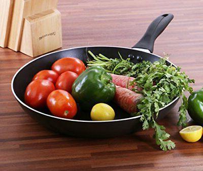 """Aluminum Nonstick Frying Pan 18 8"""", 9.5"""", Utopia Kitchen"""