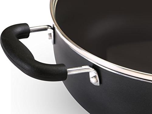 Inch Nonstick Deep Pan 4.6 Quart Sauté Pan - Jumbo Cooker Lid - Safe