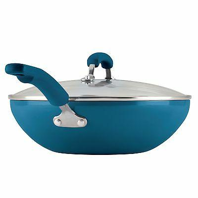 Rachael Ray® Nonstick Blue Stir Fry Lid