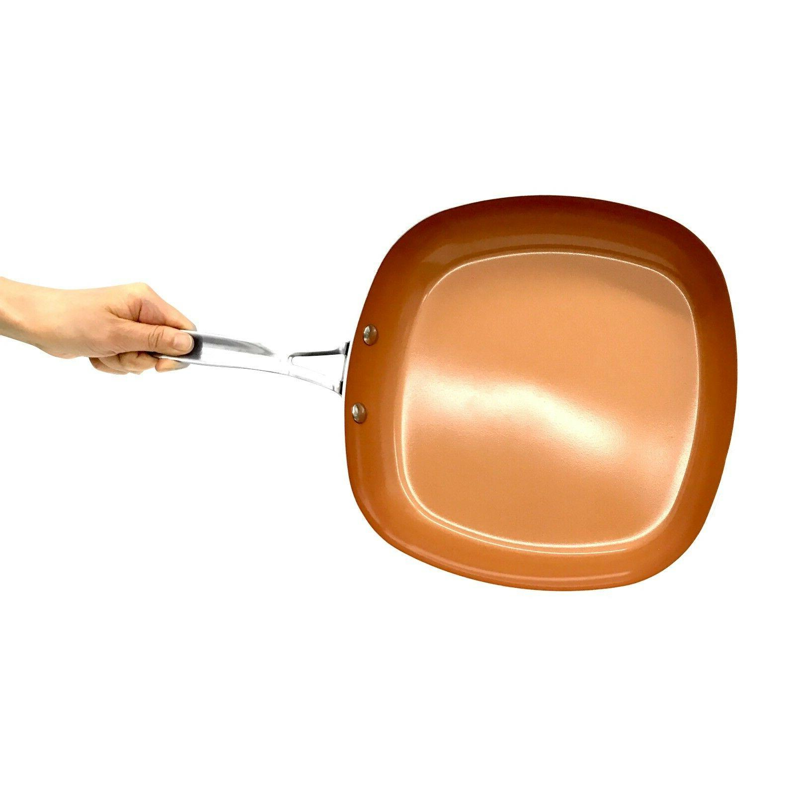 "As TV Gotham Steel 2"" Square Copper Pan- BRAND"