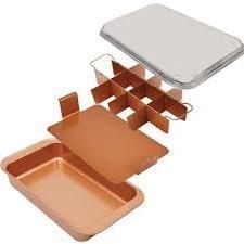 Copper Chef Bake & Crisp Pan - 4 Piece Non-Stick Baking Set