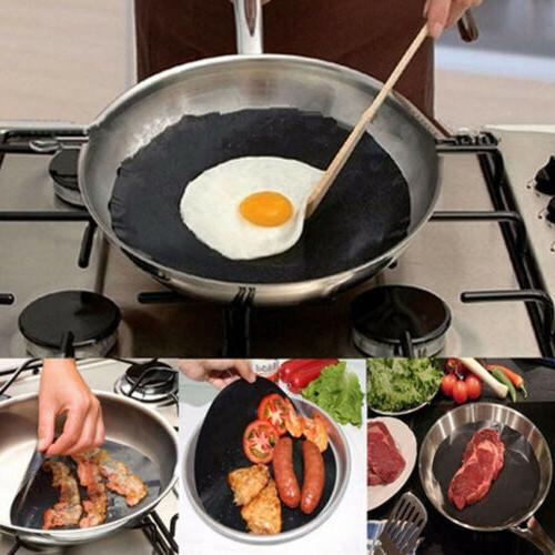 Black Round Non-stick Frying Pan Liner The Best Product For
