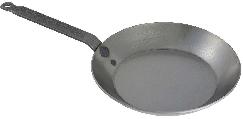black steel fry pan