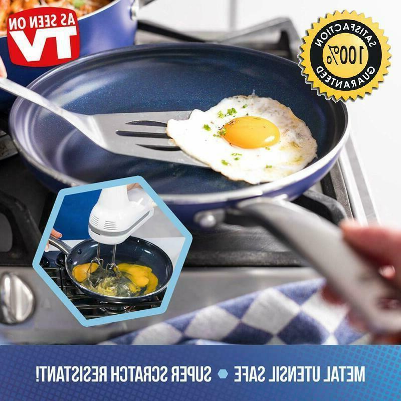 """Blue Diamond Free Open Frypan, 10"""", Blu"""