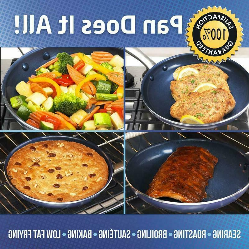 "Blue Cc001597-001 Free Ceramic Open Frypan, 10"","