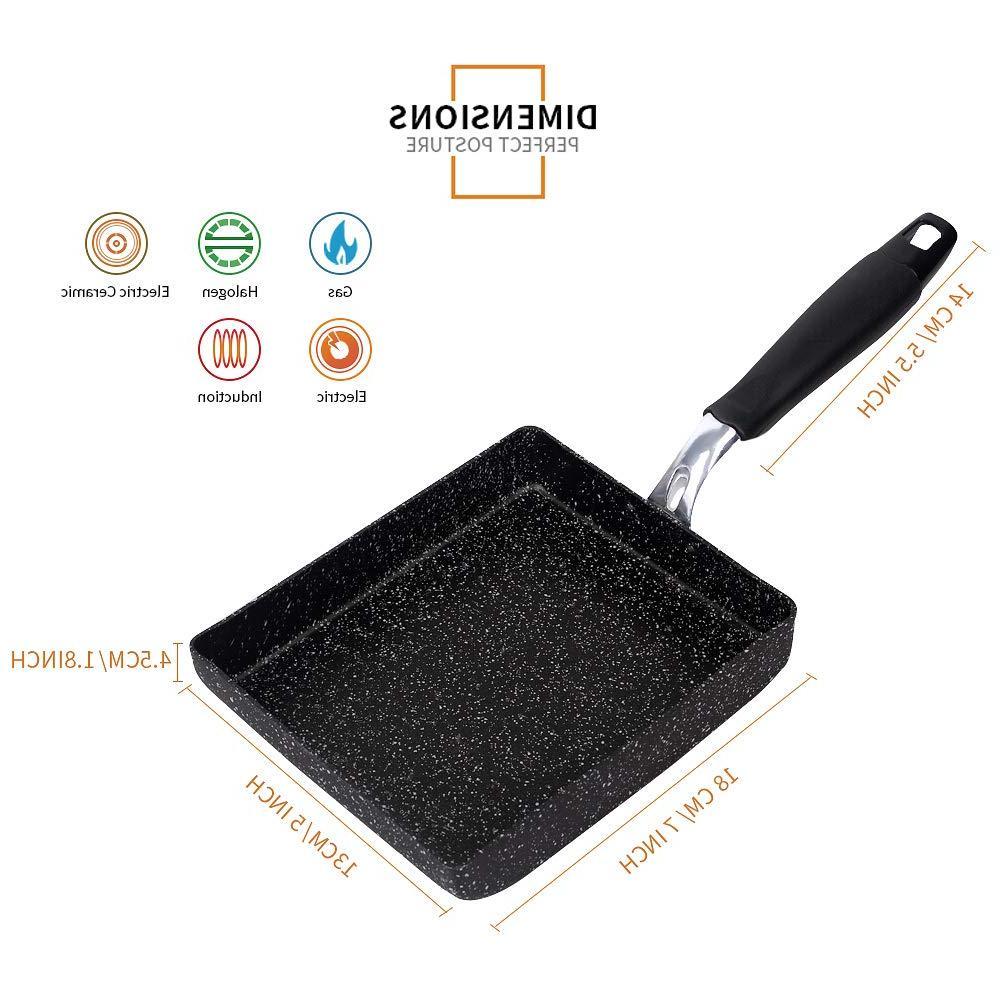MyLifeUNIT Non-Stick <font><b>Frying</b></font> Pot Tamagoyaki Egg <font><b>Pan</b></font> <font><b>Kitchen</b></font> Cooking