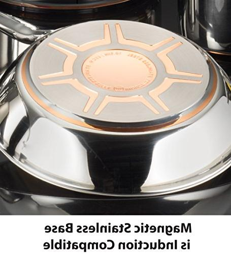 Copper Bottom Pots Pans 13 Piece ,