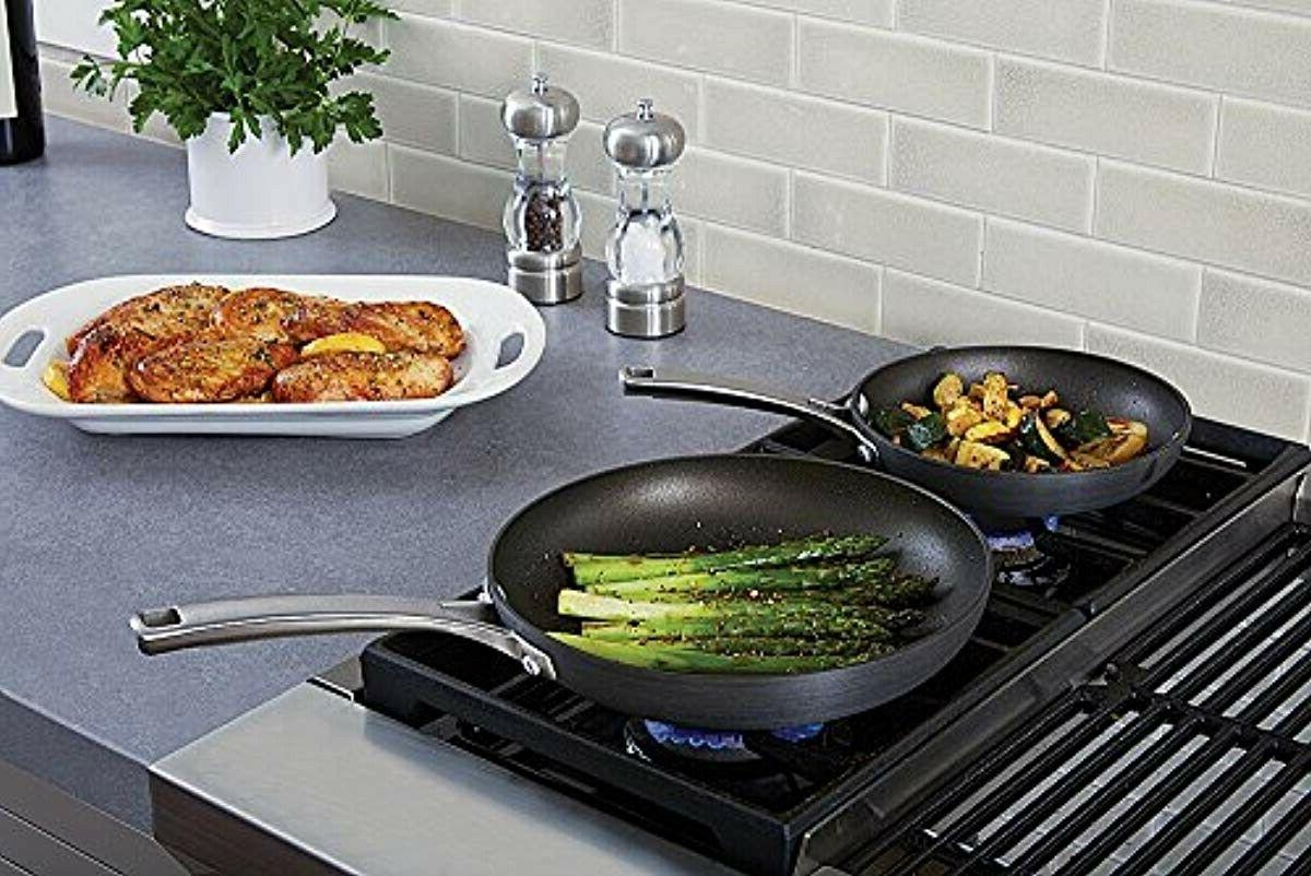 Calphalon Piece Nonstick Fry Pan Set Frying Anodized