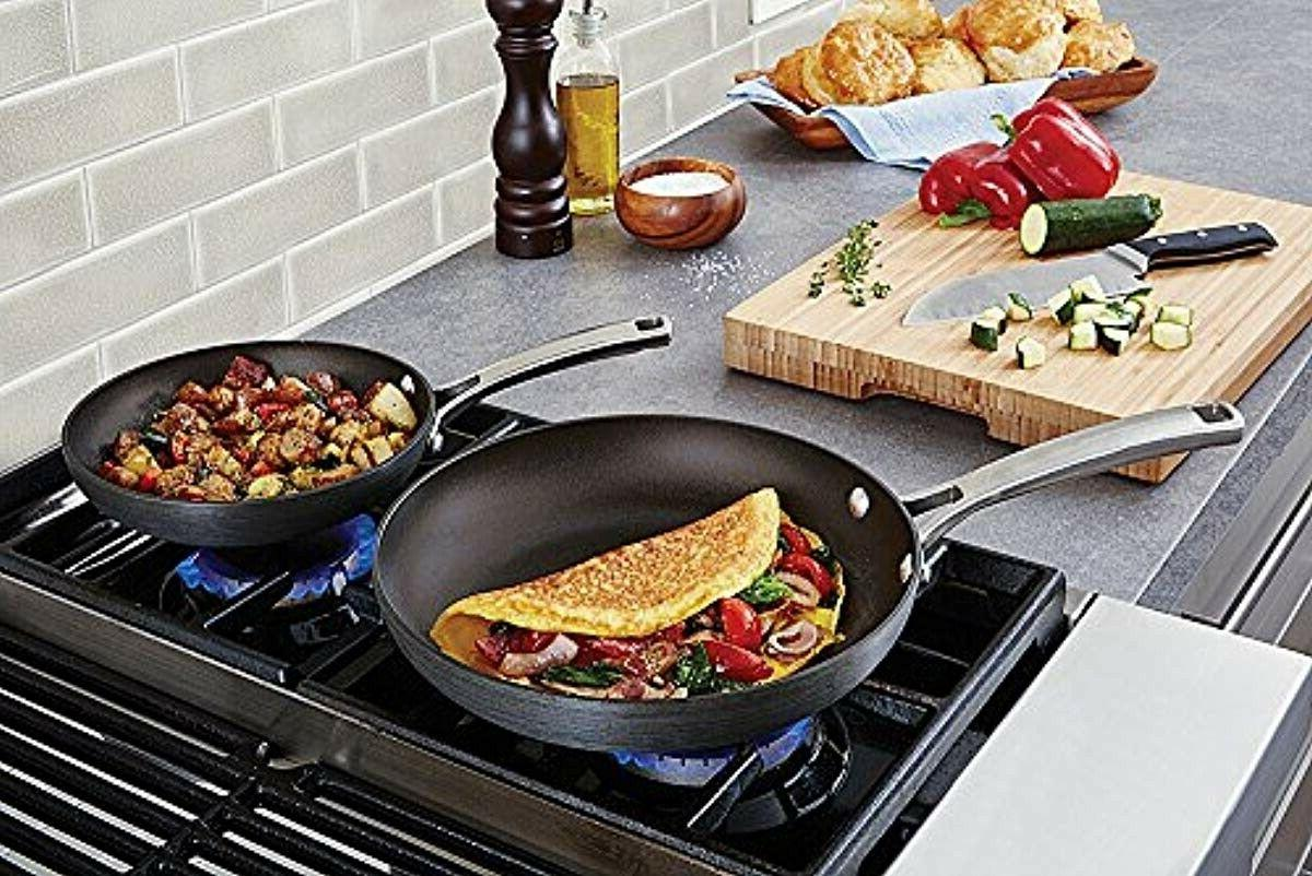 Calphalon 2 Nonstick Fry Pan Frying Anodized Stainless Steel