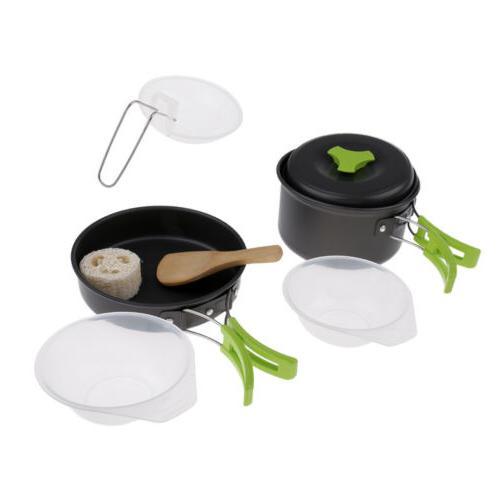 Camping Mess Frying Pan Spoon Supplies Set