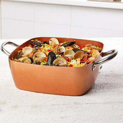 Copper Chef 11 Casserole Pan Set - 2 Deep Square Pan With Lid – Square Pan – Stainless Steel Induction PTFE &
