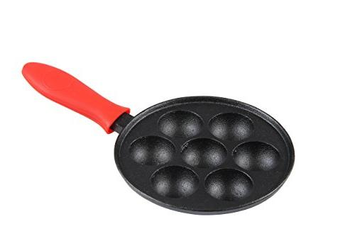 SCI Scandicrafts 7-Cup Cast Iron Aebleskiver Pan, New, Free