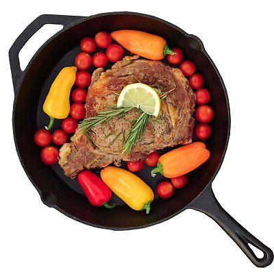 Cast Iron Skillet Cast Iron Pan - Non-Stick Frying Pan Pre S