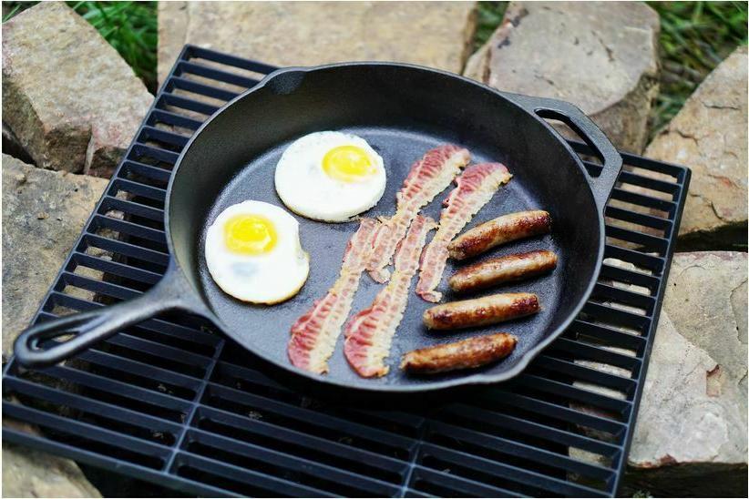 "Cast Iron Skillet 12"" Oven Fry Pan Pot Cookware Pre-seasoned"