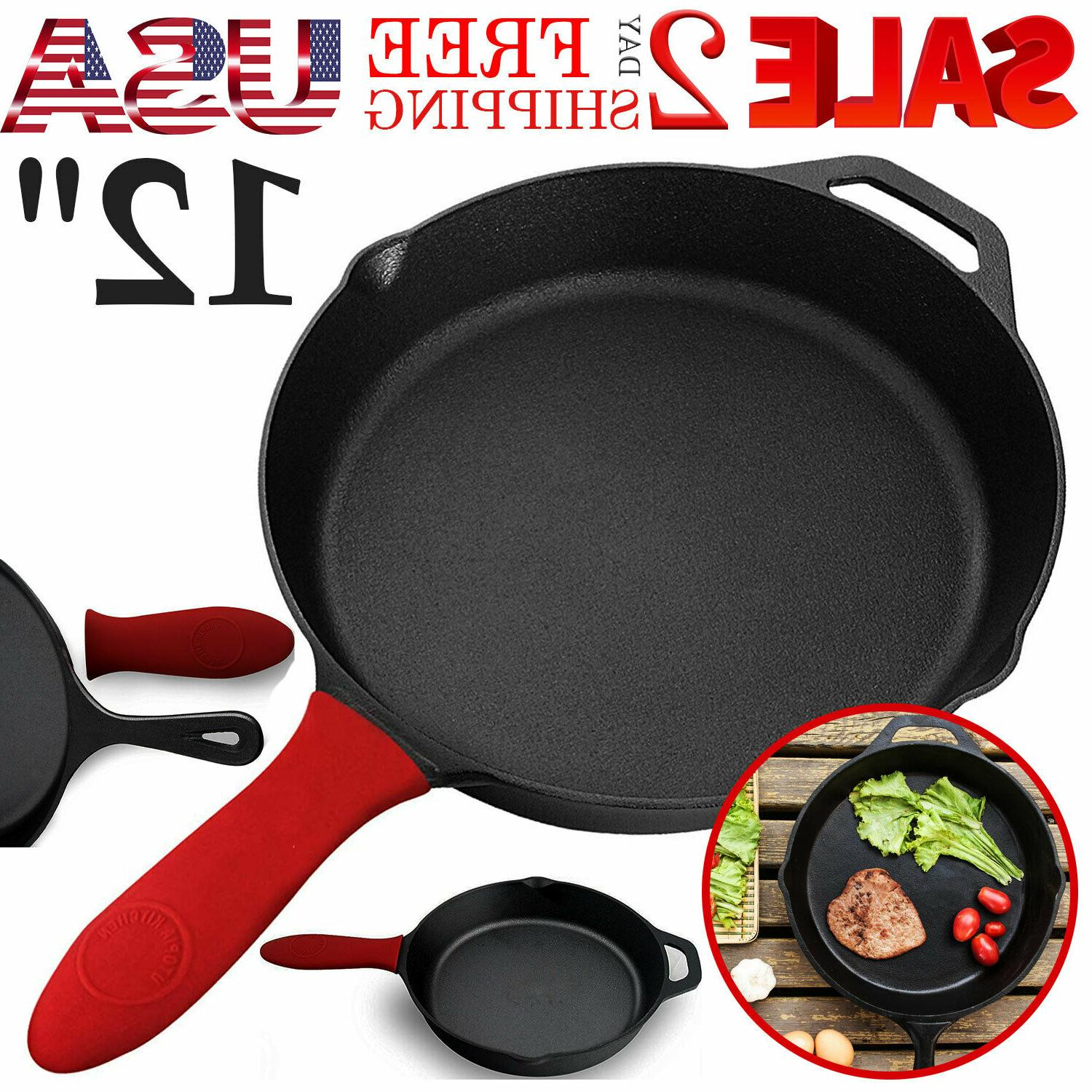cast iron skillet 12 oven fry pan