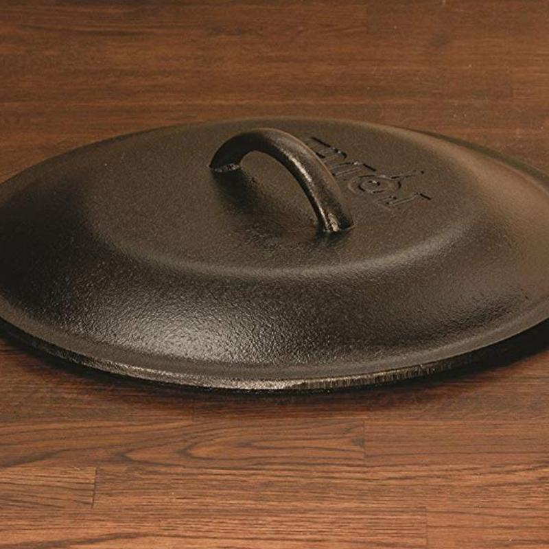 Cast Frying Baking Soup Chicken Deep Pot Pan Lid
