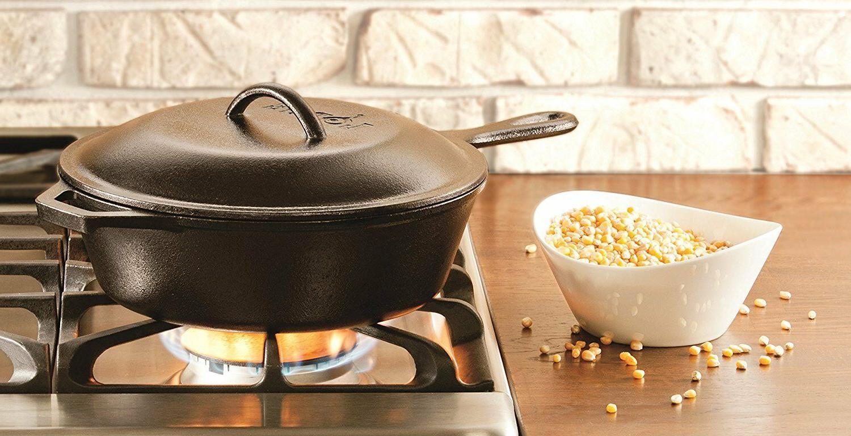 Cast Iron Pan Chicken Fryer Deep Pot Baking Soup