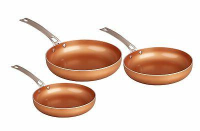 ceramic coated copper frying pan