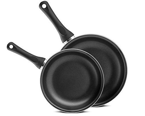 "Chef's 2 Piece Ceramic Non-Stick Frying Pan Set - 10"" - Black"