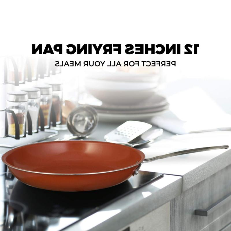 """Chef's Star Ceramic Titanium Frying 9.5"""" - 2"""