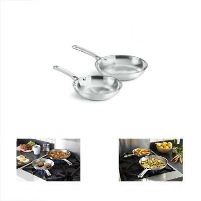 classic stainless steel fry pan