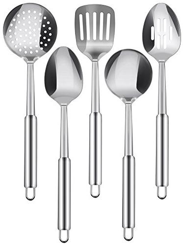cooking spoon set stainless steel