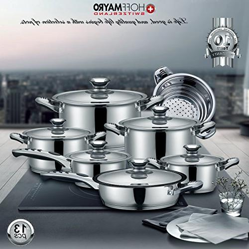 Cookware set Cookware set and 18/8 of anti-hot thermometer Full Set saucepan,casserole,steamer