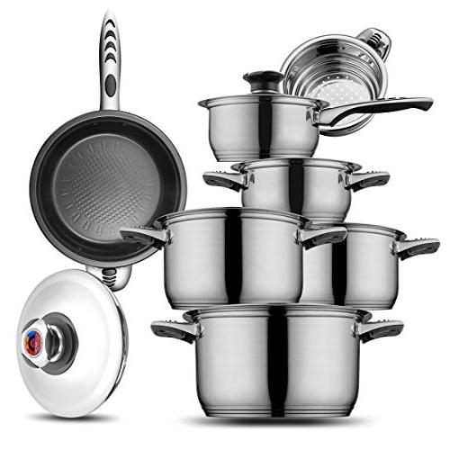 cookware set stainless steel 18