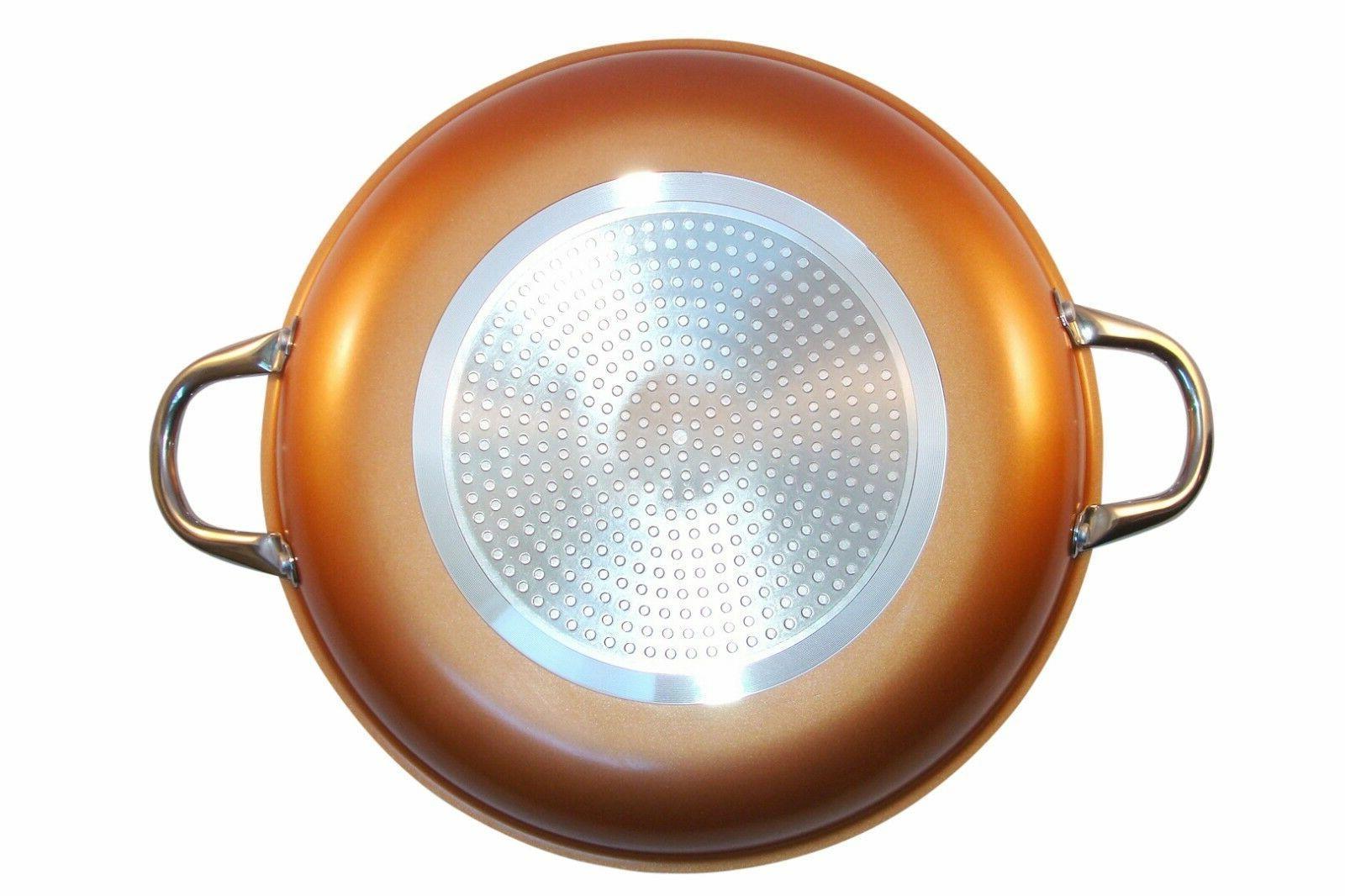 Copper Pan inches Ceramic Non Stick Induction