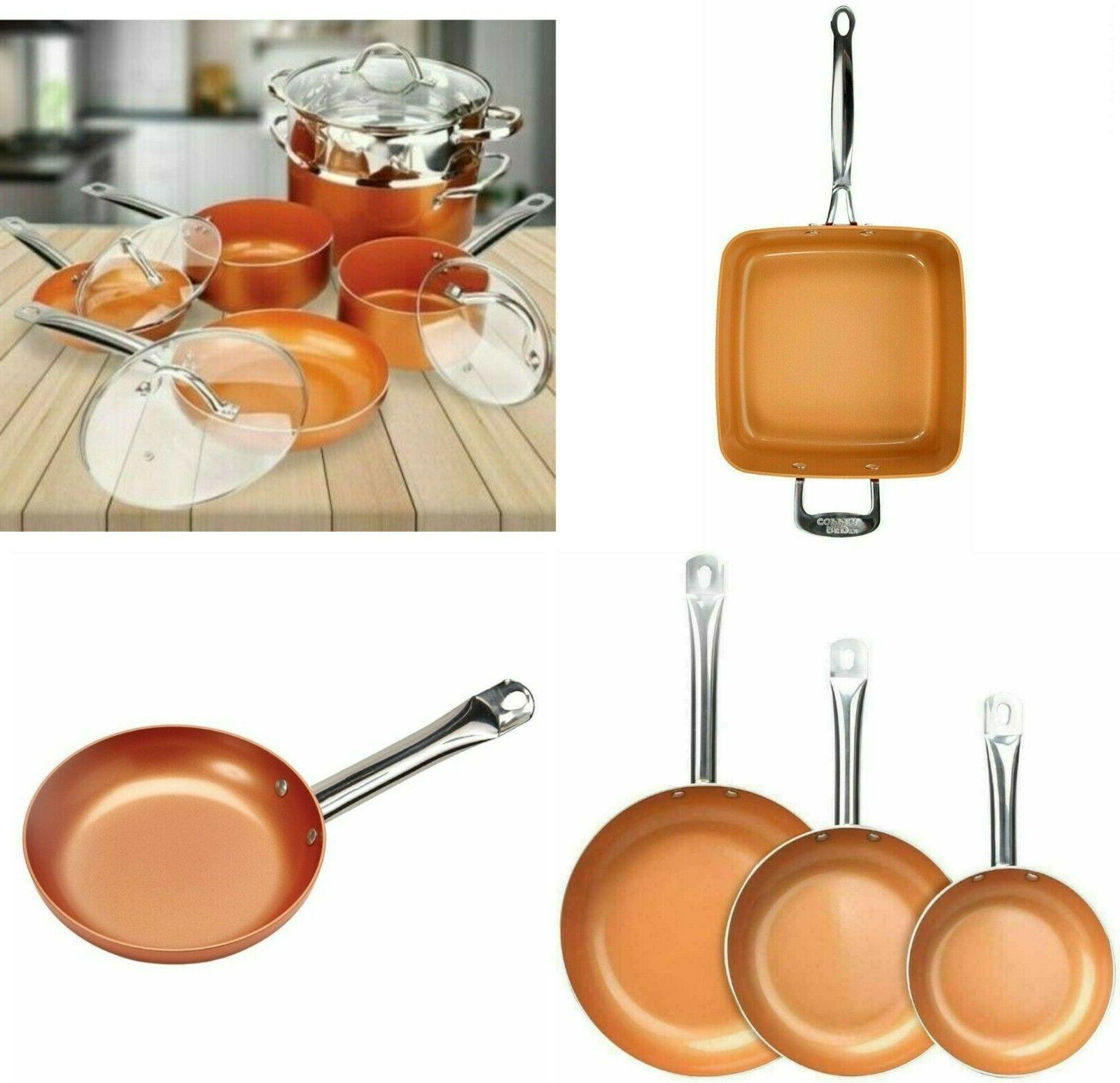 copper frying pan ceramic nonstick fry skillet