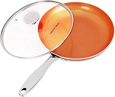 Copper Nonstick Frying Pan Induction Bottom Healthy Skillet