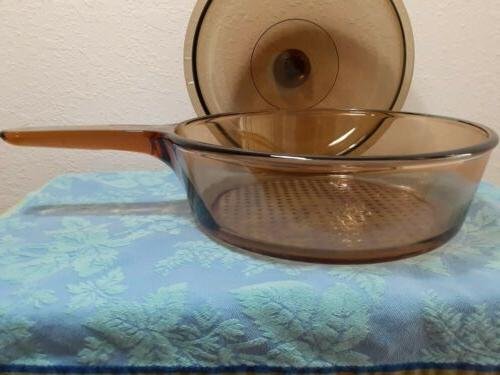 Corning Visions Lid Amber Pyrex Excellent
