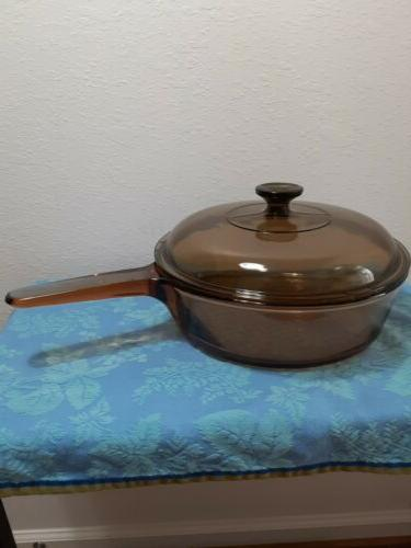 corning visions 10 deep frying pan skillet