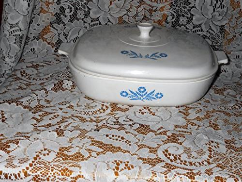 corning ware cornflower blue casserole