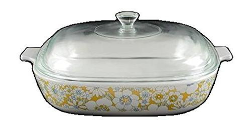 corning ware floral bouquet skillet