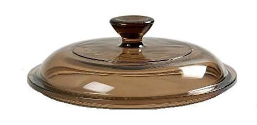 corning ware pyrex amber round