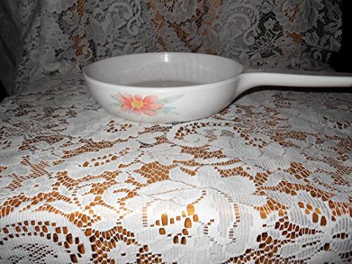 corning ware skillet peach floral