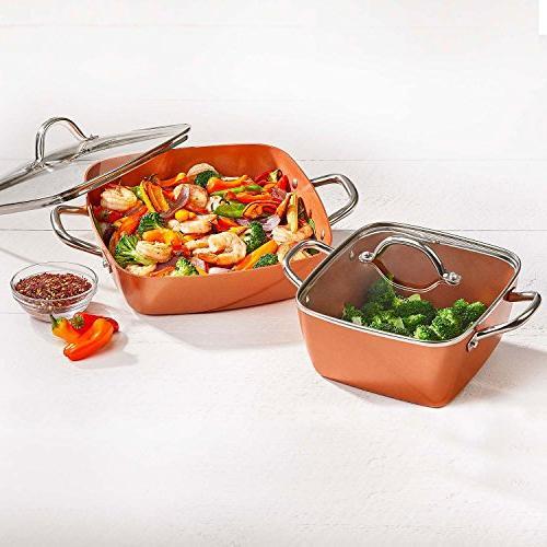 Copper Deep Casserole Pan
