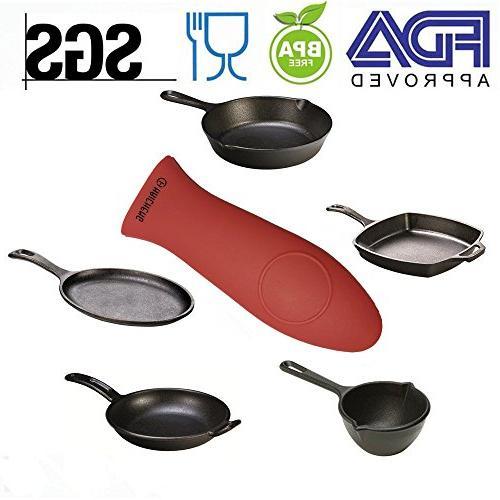 Haicheng 6 Durable Grill Pan Scraper Hot Holder Cast Pans and Griddles