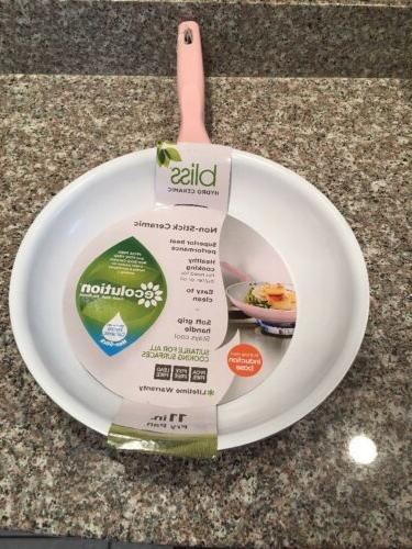 ECOLUTION BLISS PINK IN CERAMIC NON STICK FRY NWT